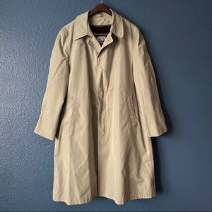 Vintage Raintamer Fleece Lined Tan Trench Coat 44R